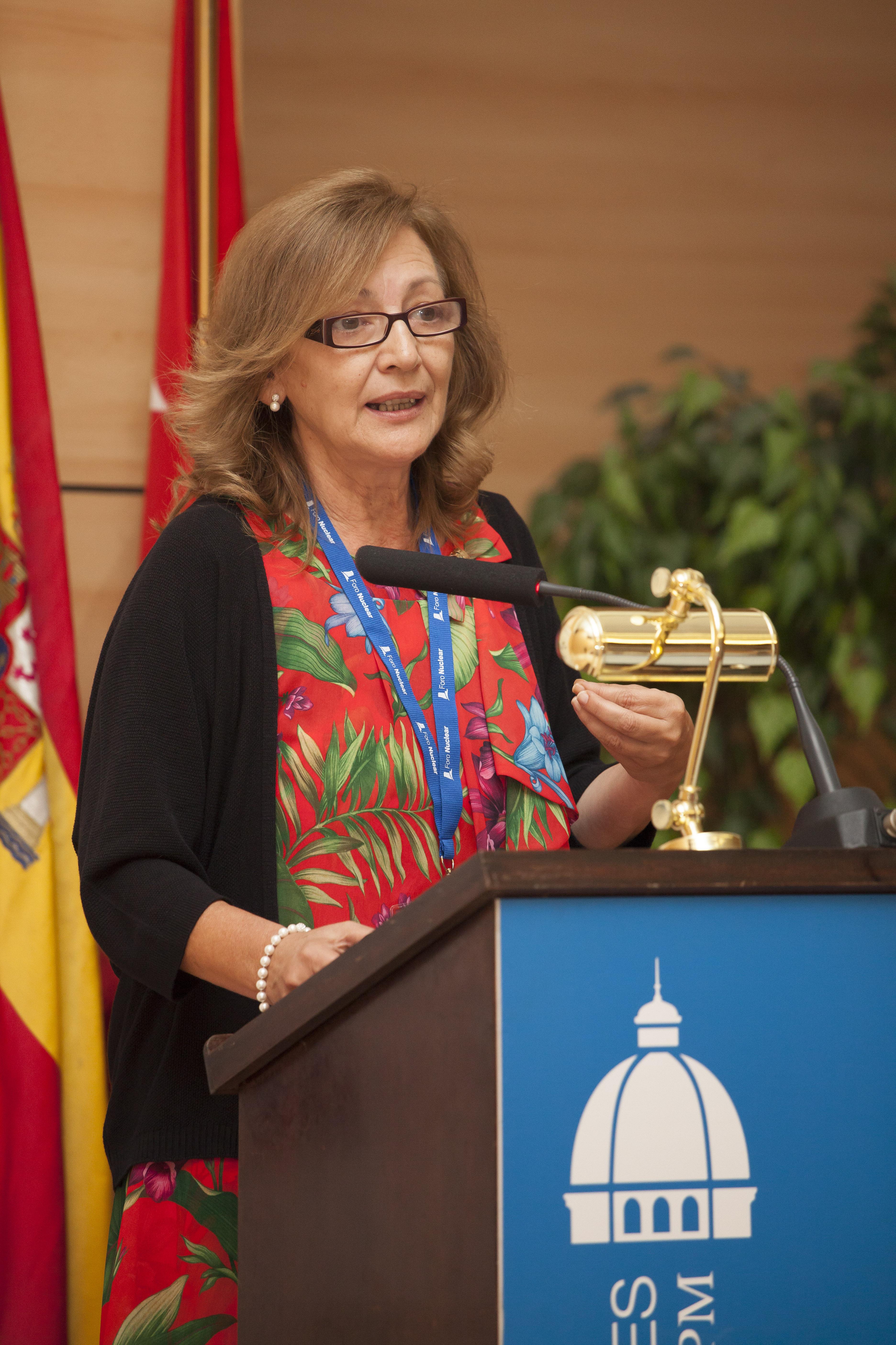 Rosario Velasco, Presidenta de la Plataforma Tecnológica CEIDEN y Vicepresidenta del CSN