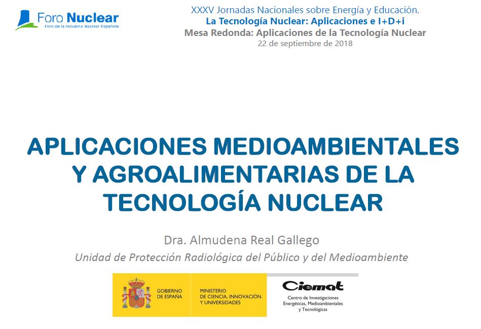 Aplicaciones medioambientales y agroalimentarias de la tecnología nuclear