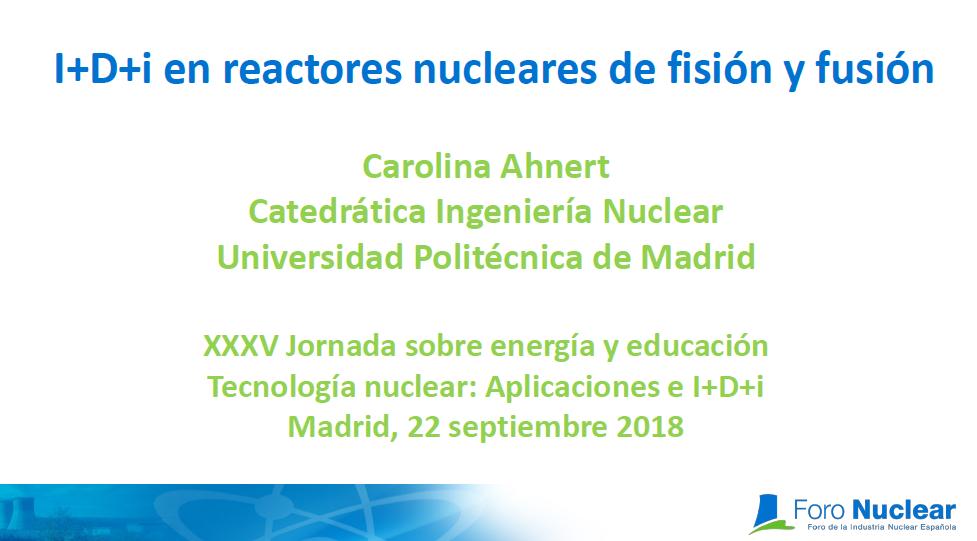 I+D+i en reactores nucleares de fisión y fusión