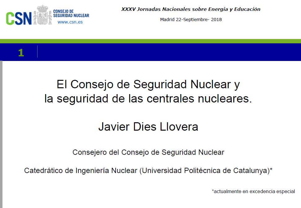 El Consejo de Seguridad Nuclear y la seguridad de las centrales nucleares