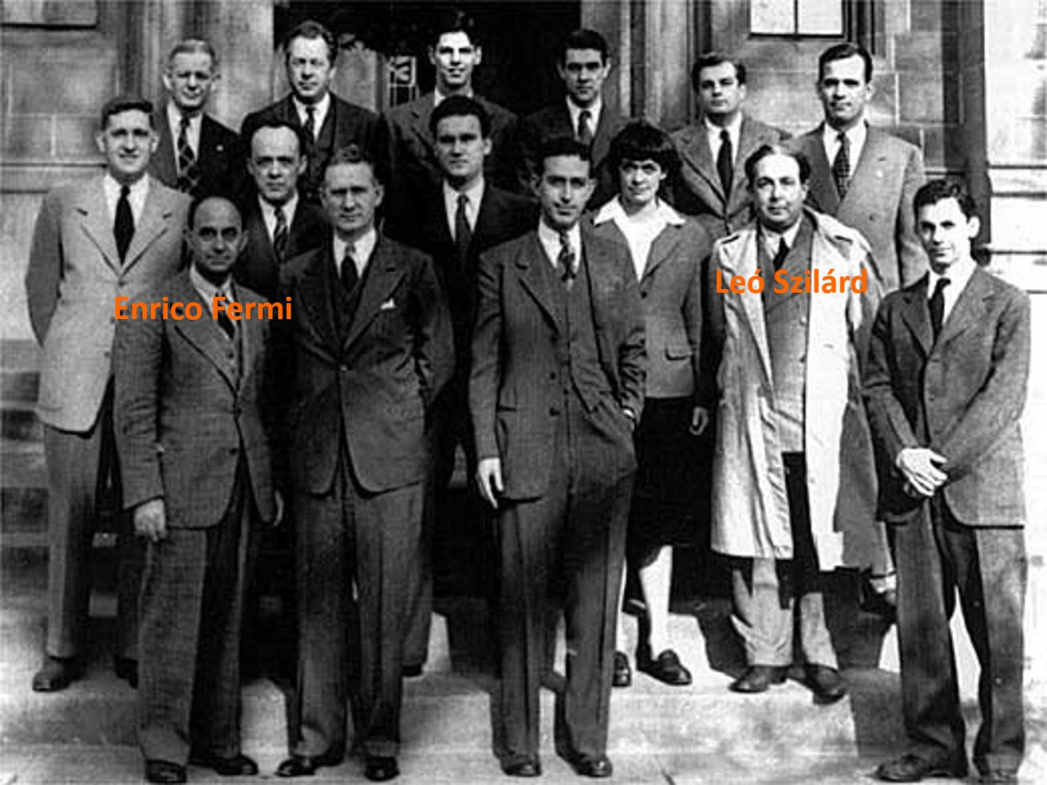 Enrico Fermi y Leó Szilárd