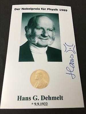 Hans Georg Dehmelt_Nobel y firma