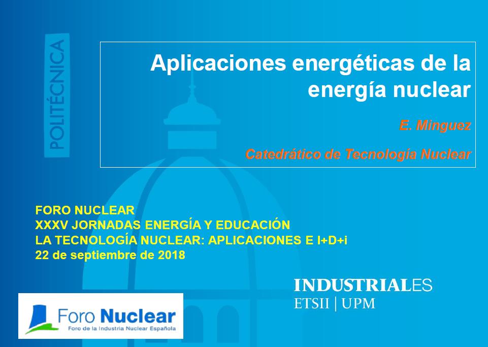 Aplicaciones energéticas de la energía nuclear