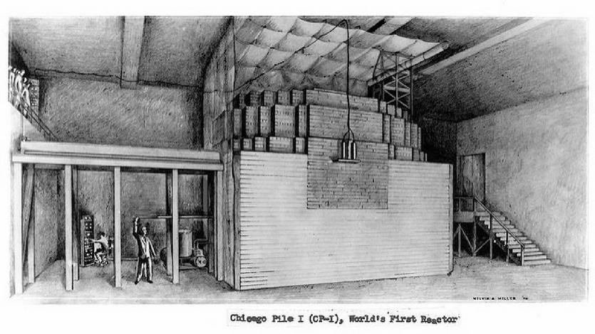 Chicago Pile-1 de Enrico Fermi
