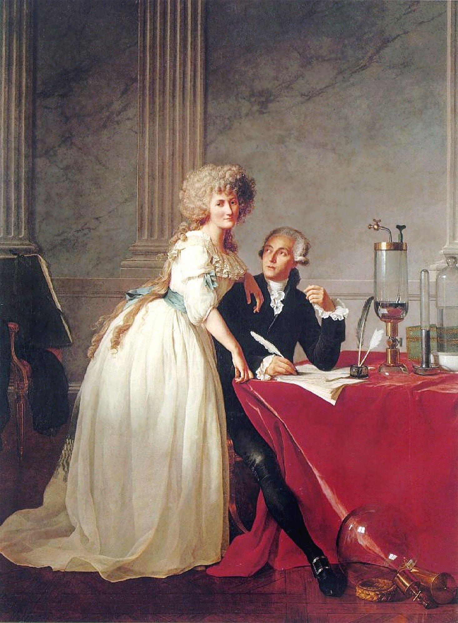 Marie-Anne y Antoine Lavoisier