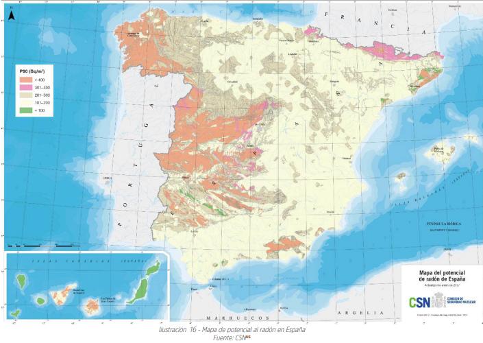 Mapa Radón del CSN