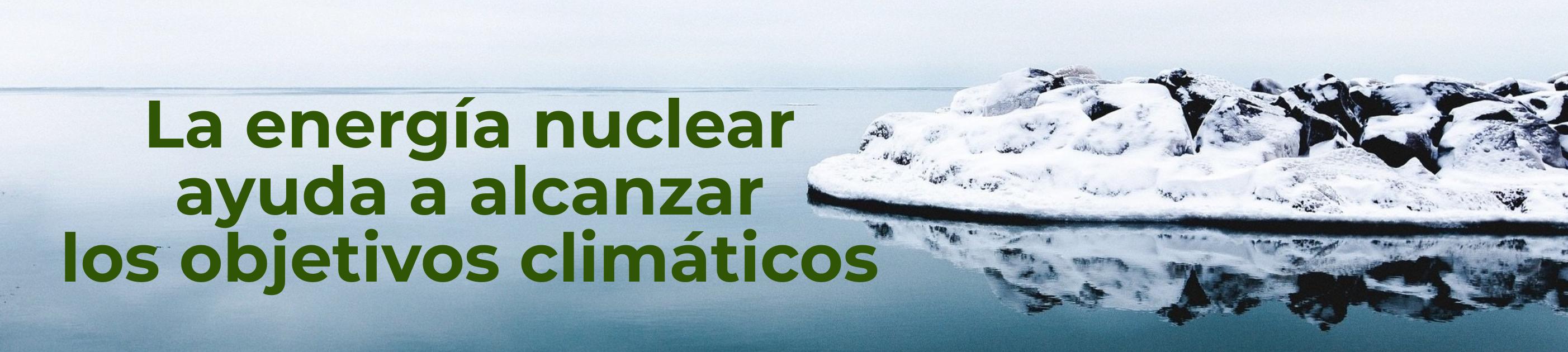 Banner energía nuclear y objetivos cambio climático
