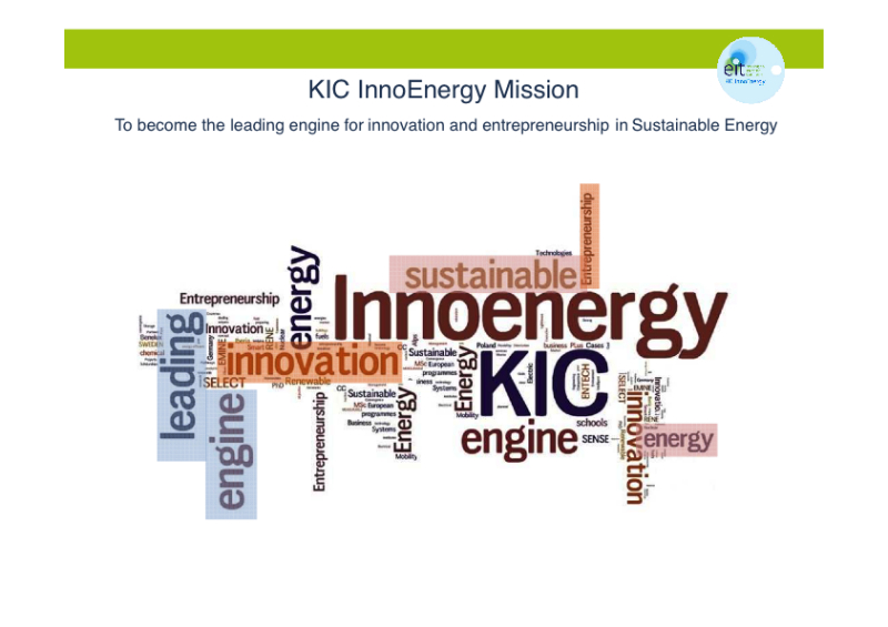 Proyecto KIC Innoenergy: EDU & MSC RENE