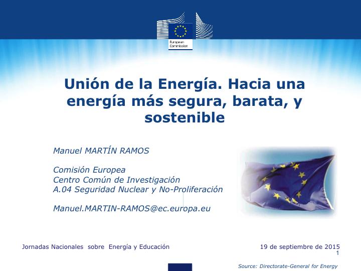 Unión de la Energía. Hacia una energía más segura, barata, y sostenible