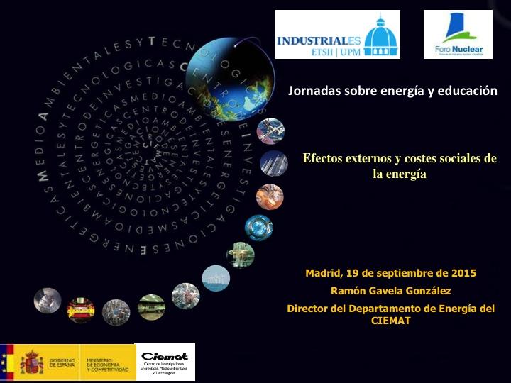 Efectos externos y costes sociales de la energía