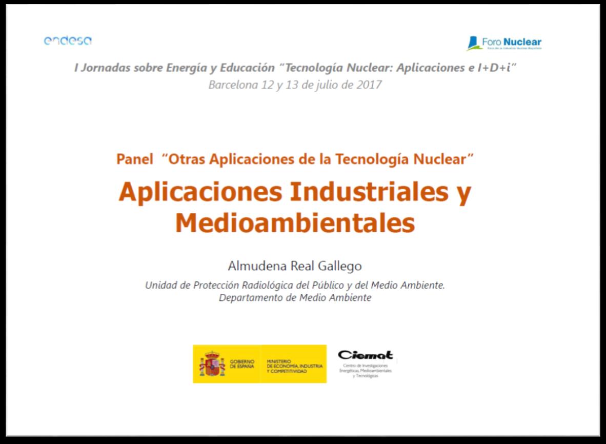 Aplicaciones Industriales y Medio Ambientales. Almudena Real