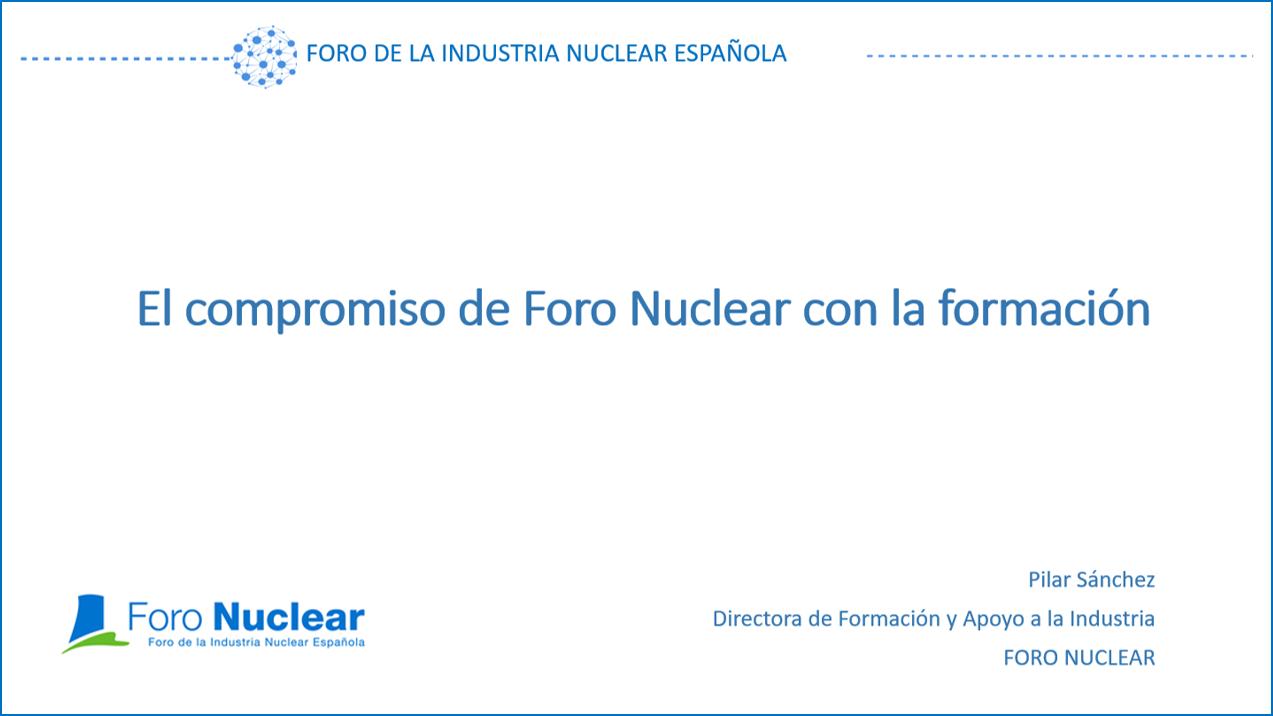 El compromiso de Foro Nuclear con la formación