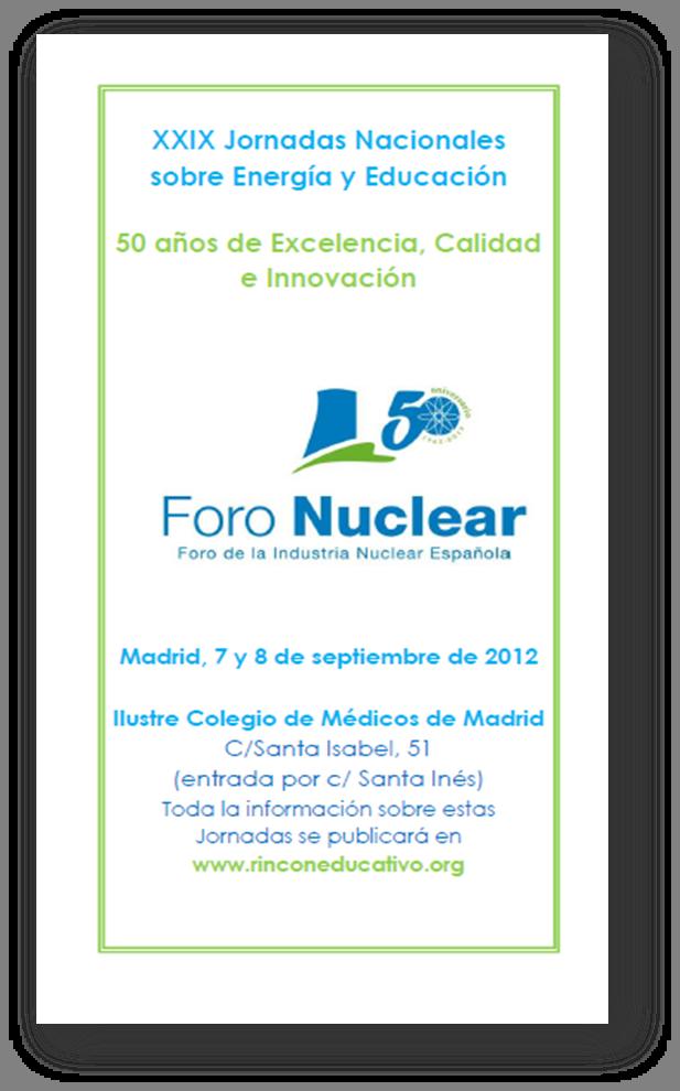 Programa de las XIX Jornadas Nacionales sobre Energía y Educación: 50 años de Excelencia, Calidad e Innovación (2012)