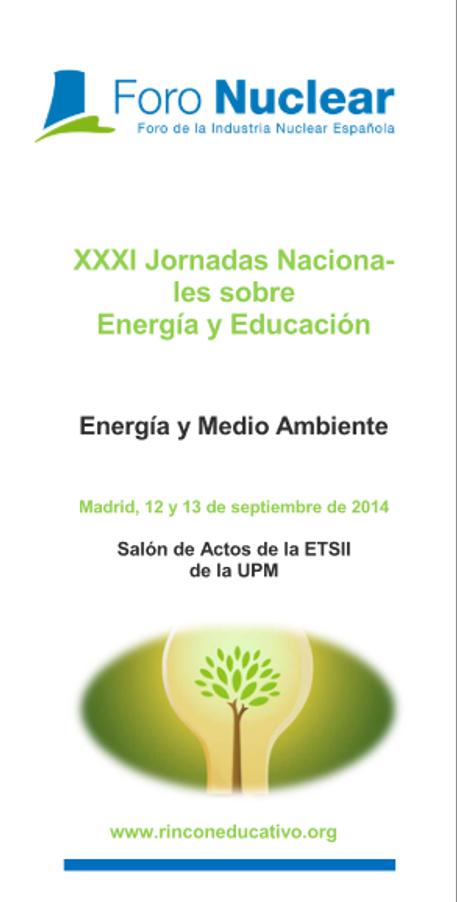 Programa de las XXXI Jornadas Nacionales sobre Energía y Educación: Energía y Medio Ambiente (2014)