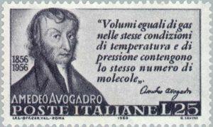 Sello conmemorativo de Amedeo Avogadro
