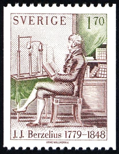 Sello conmemorativo de Berzelius