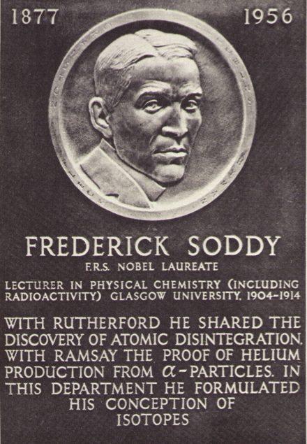 Placa conmemorativa Soddy